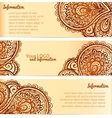 Ornate henna ornament vintage banners vector image