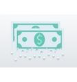 modern flat money background Eps 10 vector image vector image