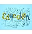 Education icon concept vector image vector image