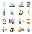 Set icons salesman flat vector image