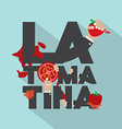 La Tomatina Typography Design vector image vector image