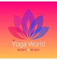 Lotus flower as symbol of yoga vector image