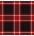seamless red tartan vector image