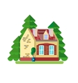 cute colorful house vector image