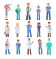 different doctors people profession specialization vector image