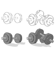 Dumbbells vector image