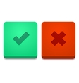 modern yes and no icons set vector image