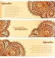 Ornate henna ornament vintage banners vector image