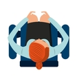 person set chair icon vector image