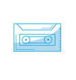 silhouette cassette to listen and play music vector image