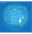 speech bubble with drawing business plan vector image