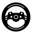 steering wheel icon simple black style vector image