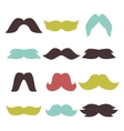 Face accessory party set fun mustache hipster vector image