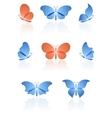 Butterflies logos set vector image vector image