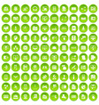 100 database icons set green circle vector image vector image