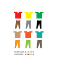 T SHIRTS AND PANTS vector image vector image