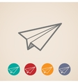 set of paper plane icons vector image