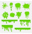Green slime set vector image