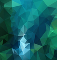 blue green emerald polygon triangular pattern vector image