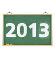 Blackboard with number 2013 vector image vector image