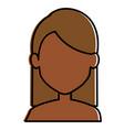 beautiful black woman shirtless avatar character vector image