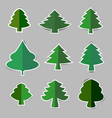 christmas tree paper sticker with shadow vector image