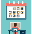 Concept of employment and business planning vector image