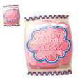 Cotton candy fairy floss in a bag icon vector image