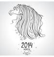 horse horoscope vector image