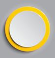 Orange circle empty banner on white background vector image