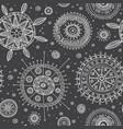 ornate circles boho style seamless pattern vector image