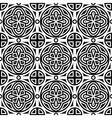 seamless geometric monochrome pattern vector image