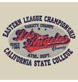 t-shirt Los Angeles print vector image