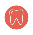 Tooth thin line icon vector image