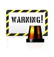 Warning background vector image