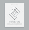 abstract futuristic geometric shape vector image