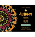 Autumn festival background Invitation banner with vector image