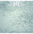 Grungy light blue background with flower vector image vector image