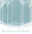 Merry Christmas postcard Calm winter scene vector image