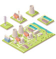 Isometric nuclear power facility vector image vector image