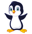 cute baby penguin vector image vector image