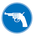Revolver allowing sign vector image