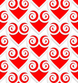 Colored 3D red swirly hearts vector image vector image
