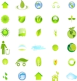 Ecology and Environment Icon Set In Format vector image