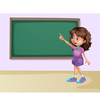 Girl in classroom vector image