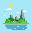 island and seascape vector image