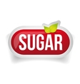 Sugar button icon red vector image
