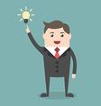 Businessman with creative idea vector image