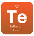 Tellurium chemical element vector image