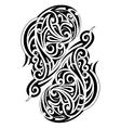 Maori style tattoo vector image